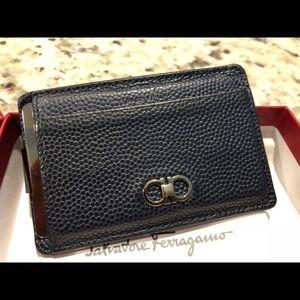 Ferragamo Card Wallet with Money Clip *rare*
